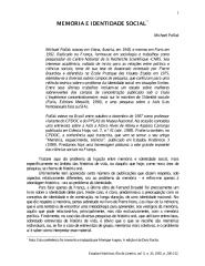 Pollak (aula 9) - Memória e identidade social.pdf