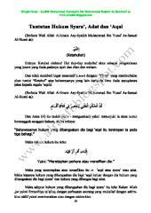 05 Tuntutan Hukum Syara', Adat dan 'Aqal.pdf