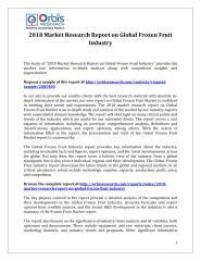 2018 Market Research Report on Global Frozen Fruit Industry.pdf
