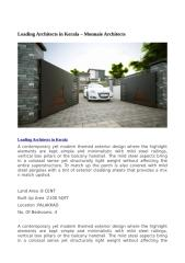 leading architects in kerala.doc