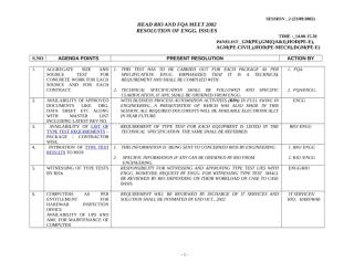 RESOLUTION OF ENGG ISSUES.doc