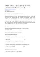 TATA CARA RIYADLOH Bantuan Dana Ghoib.docx
