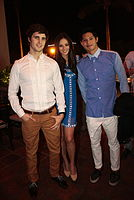 Adrien Semblat, Georgina Wilson and Borgy Manotoc in Cebu