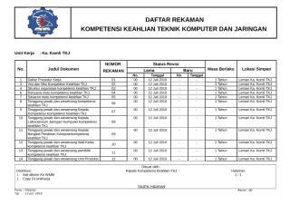 10. FORM DAFTAR REKAMAN MINK - Copy.doc