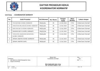 9. FORM DAFTAR PROSEDUR KERJA MINK.doc