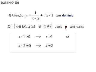 domínio e contradomínio - parte - 02.pps